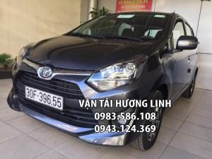Toyota Wigo 2018 (Xe nhập khẩu đời mới 2 túi khí, máy xăng số sàn, 5 chỗ, màu xám,tiết kiệm xăng)