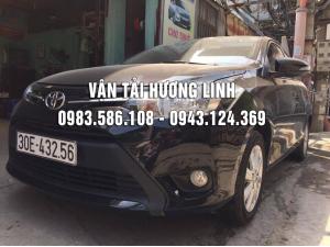 Toyota Vios (Máy xăng số tự động,tiết kiệm xăng,5 chỗ , màu đen, có GPS , camera lùi)(XE MỚI 2017)