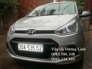 HYUNDAI i10 (Máy xăng số sàn,5 chỗ, màu bạc,tiết kiệm xăng)