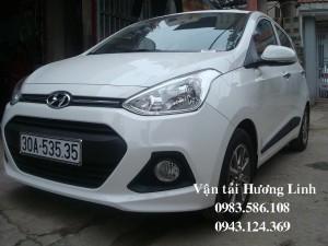 [Xe Tết] HYUNDAI i10 (Máy xăng số tự động,5 chỗ, màu trắng,tiết kiệm xăng)(XE MỚI)