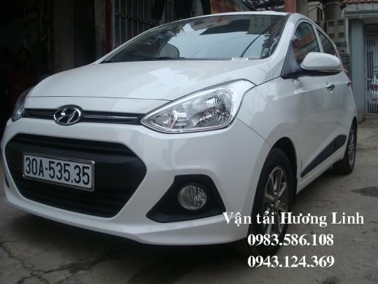 HYUNDAI i10 (Máy xăng số tự động,5 chỗ, màu trắng,tiết kiệm xăng)